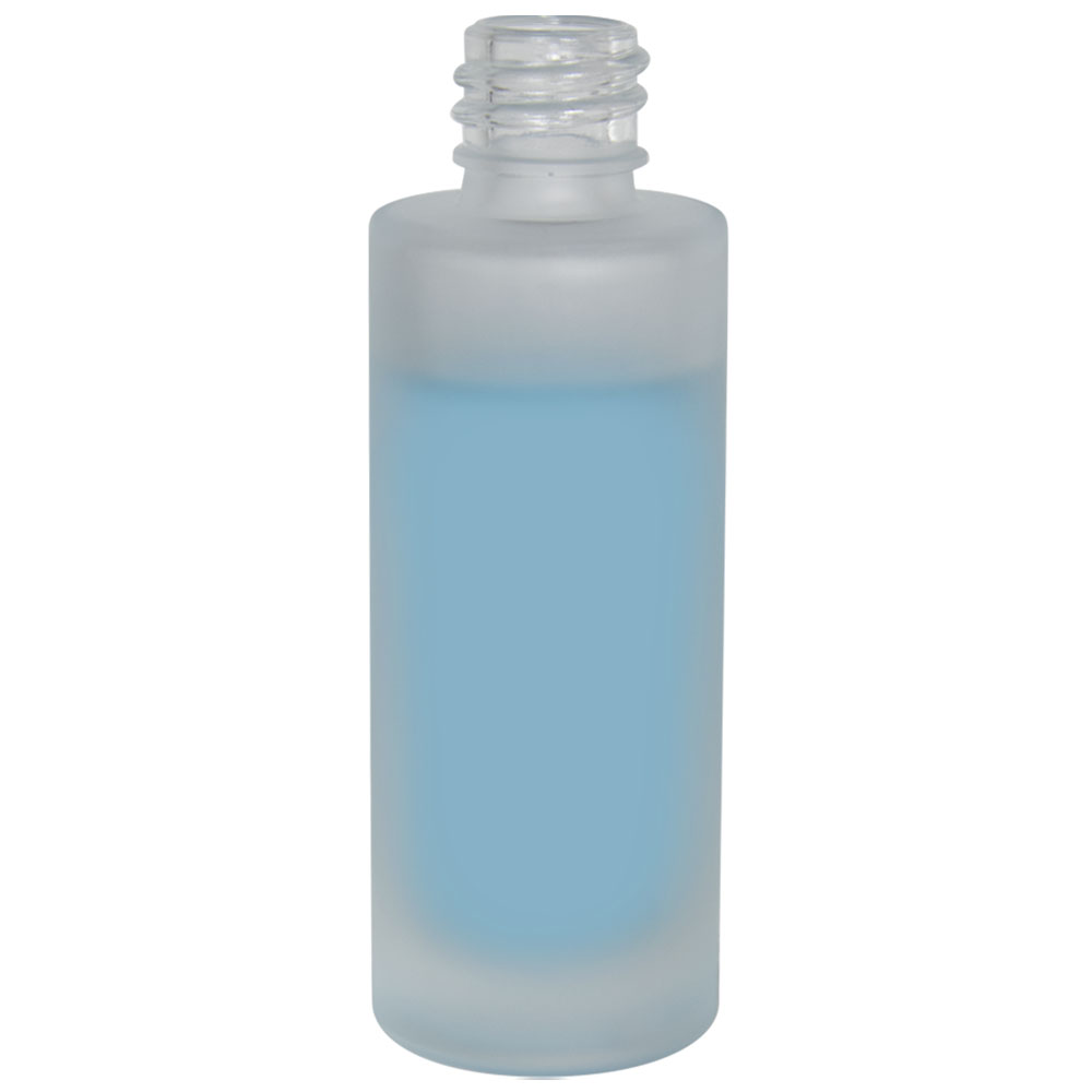 1 oz. Frosted Tall Cylinder Glass Bottle with 18/415 Neck (Cap Sold Separately)