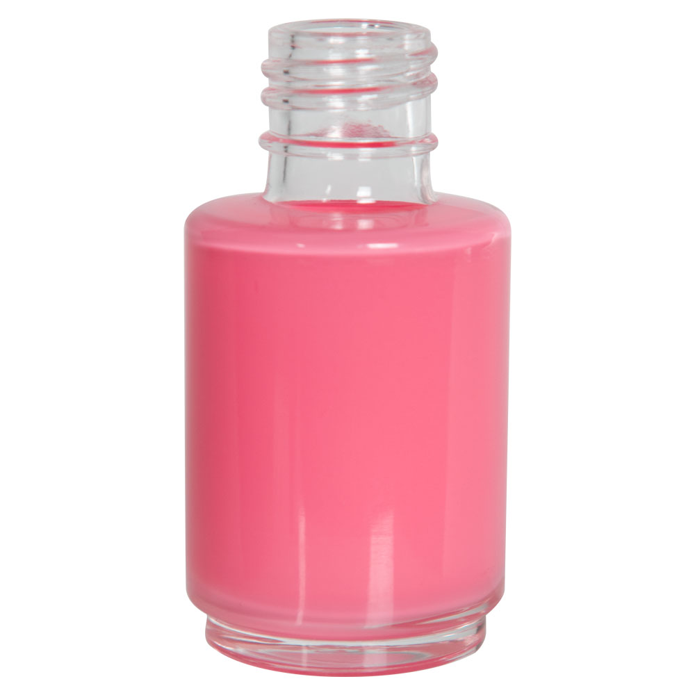 1 oz. Frosted Stubby Cylinder Glass Bottle with 20/415 Neck (Cap Sold Separately)