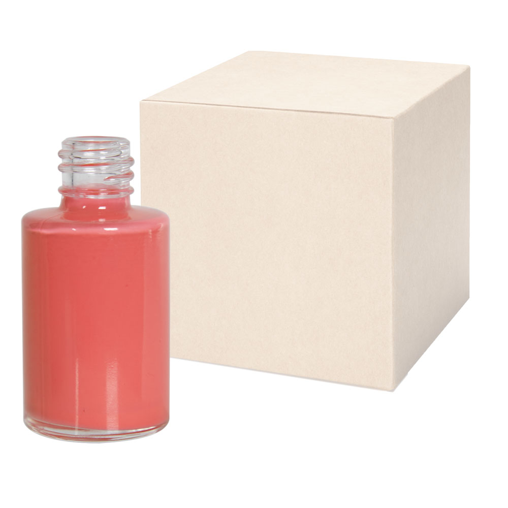 1/2 oz. Clear Stubby Cylinder Glass Bottle with 15/415 Neck - Case of 405 (Cap Sold Separately)