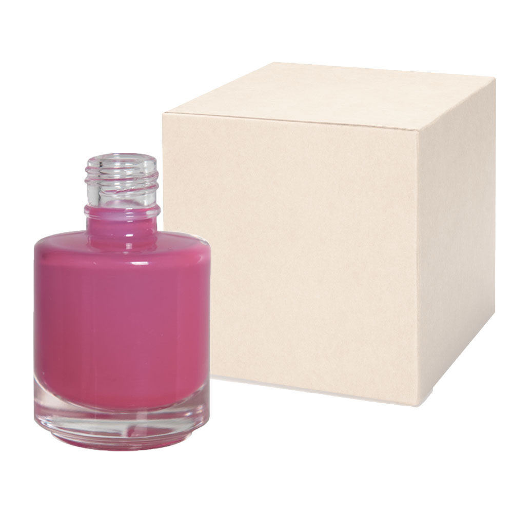 1/2 oz. Clear Stubby Cylinder Glass Bottle with 18/415 Neck - Case of 252 (Cap Sold Separately)