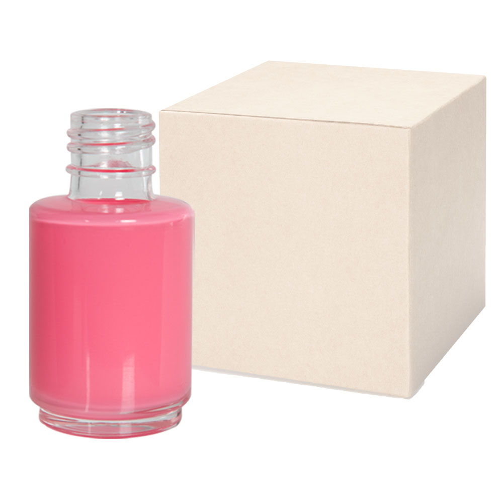 1 oz. Frosted Stubby Cylinder Glass Bottle with 20/415 Neck - Case of 256 (Cap Sold Separately)