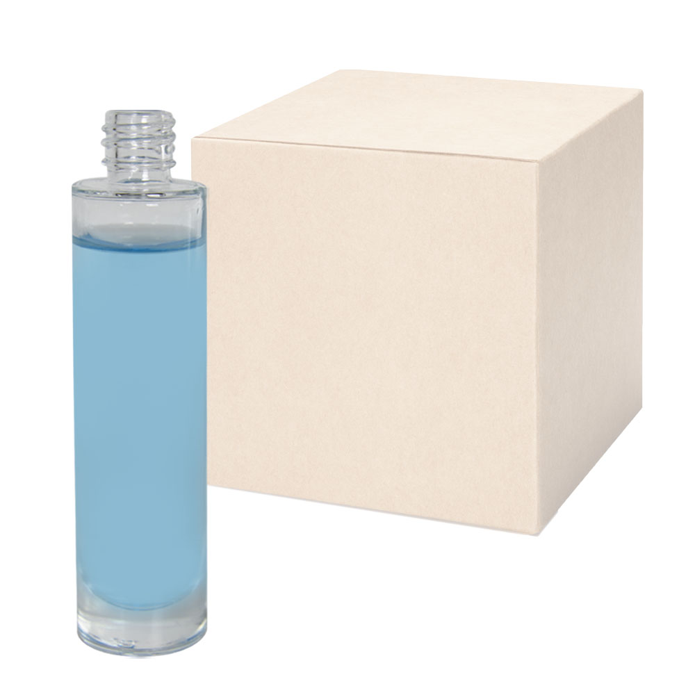 1.69 oz. Clear Tall Cylinder Glass Bottle with 18/415 Neck - Case of 88 (Cap Sold Separately)