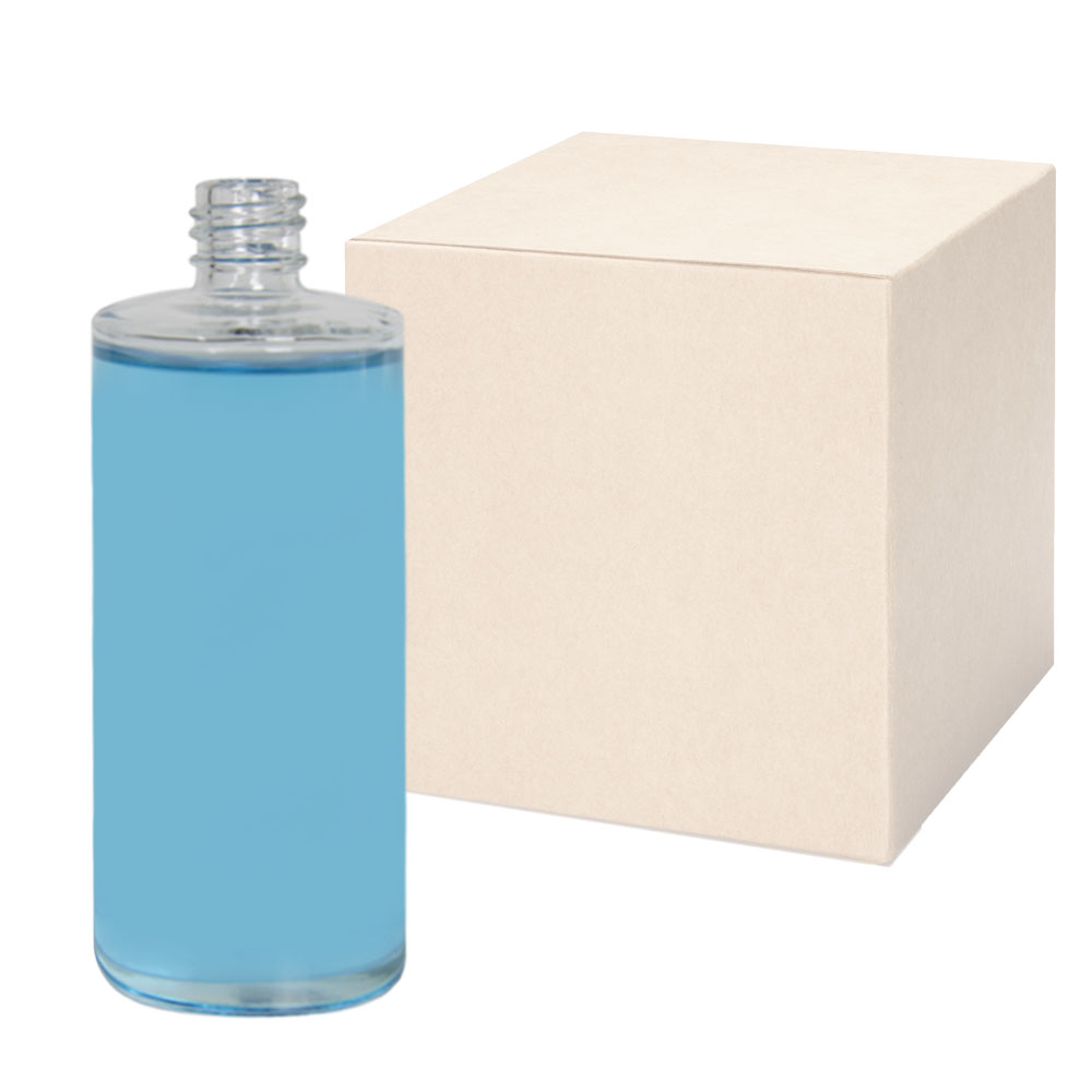 4 oz. Clear Stubby Cylinder Glass Bottle with 18/415 Neck - Case of 108 (Cap Sold Separately)