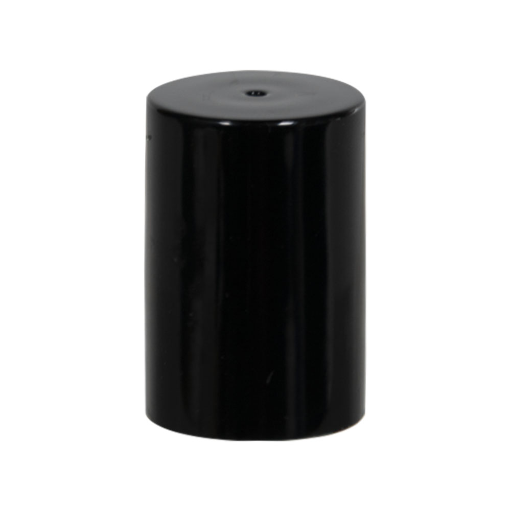 Black Polypropylene Cap for 17mm Glass Roll-On Bottle