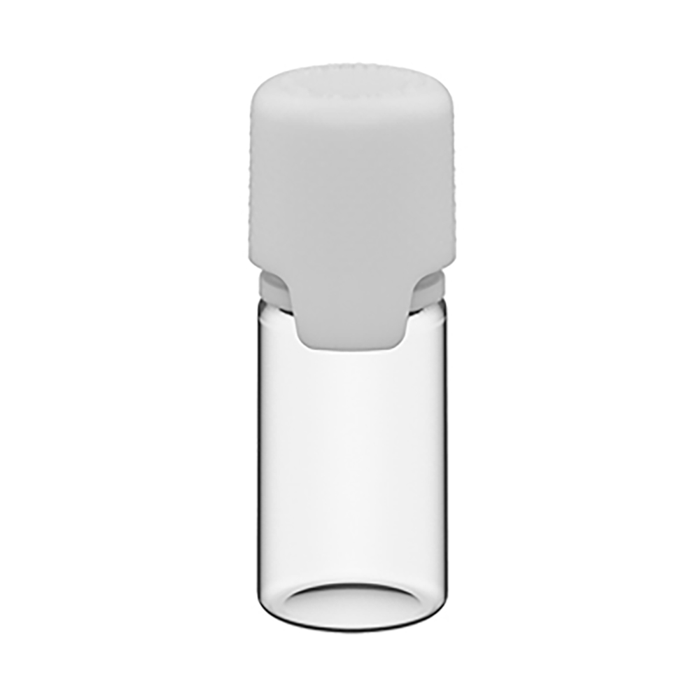 10mL Clear PET Aviator Bottle with White CR Cap & Seal