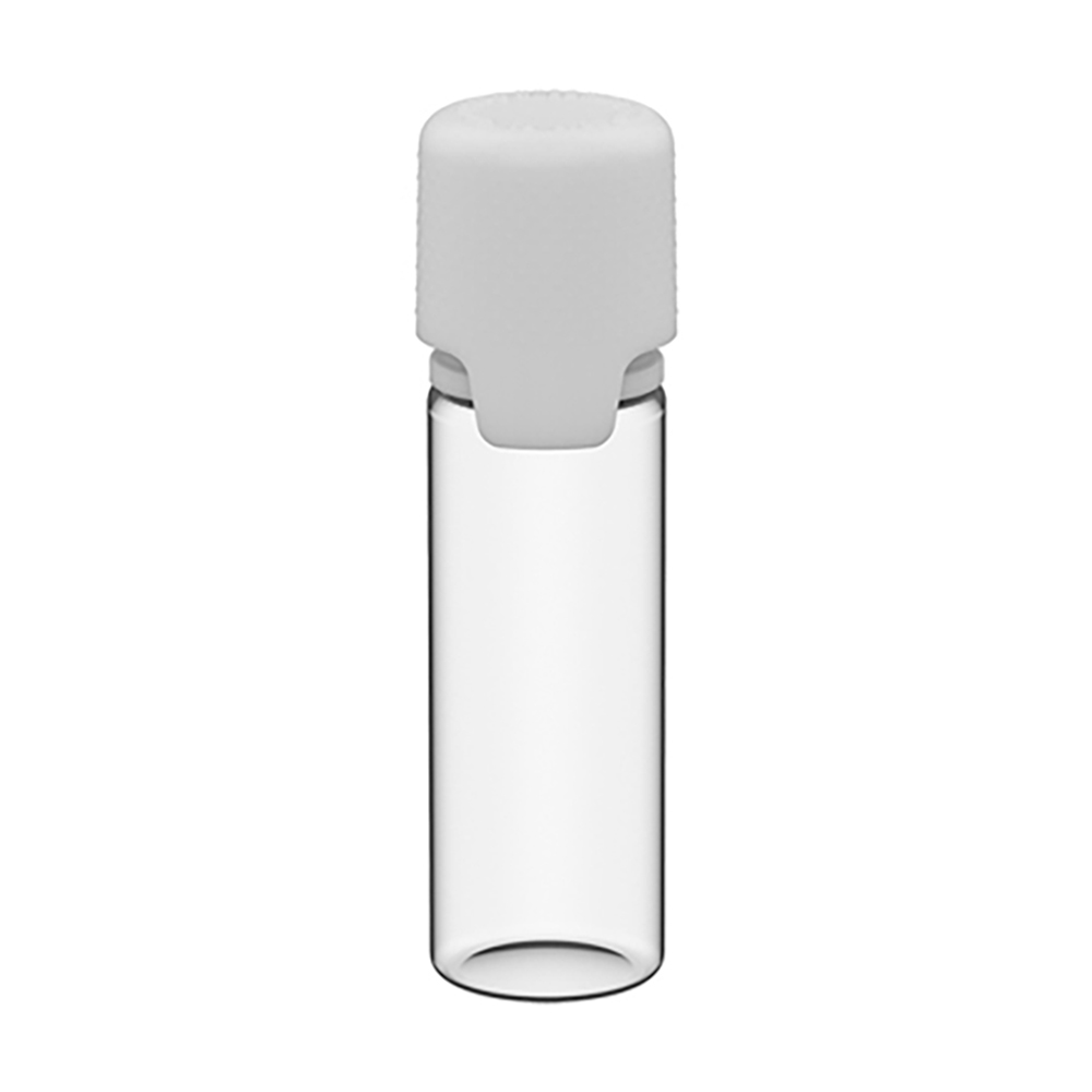 16.5mL Clear PET Aviator Bottle with White CR Cap & Seal