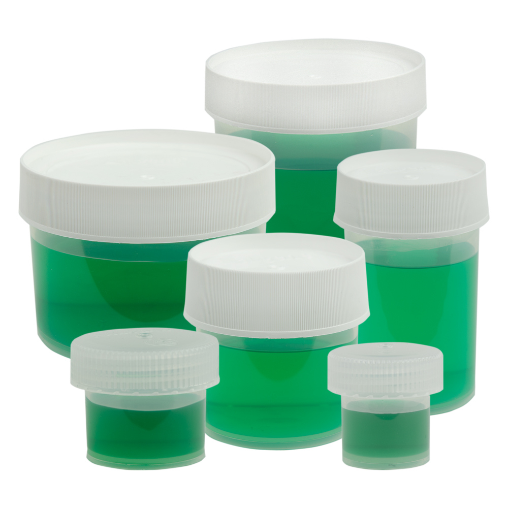 Thermo Scientific™ Nalgene™ Straight Sided Polypropylene Jars with Caps