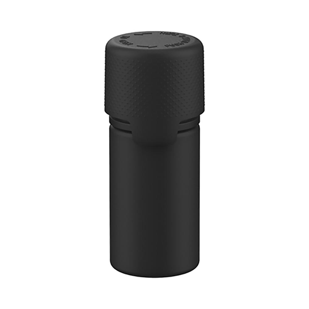 30mL Black PET Stubby Aviator Bottle with Black CR Cap & Seal