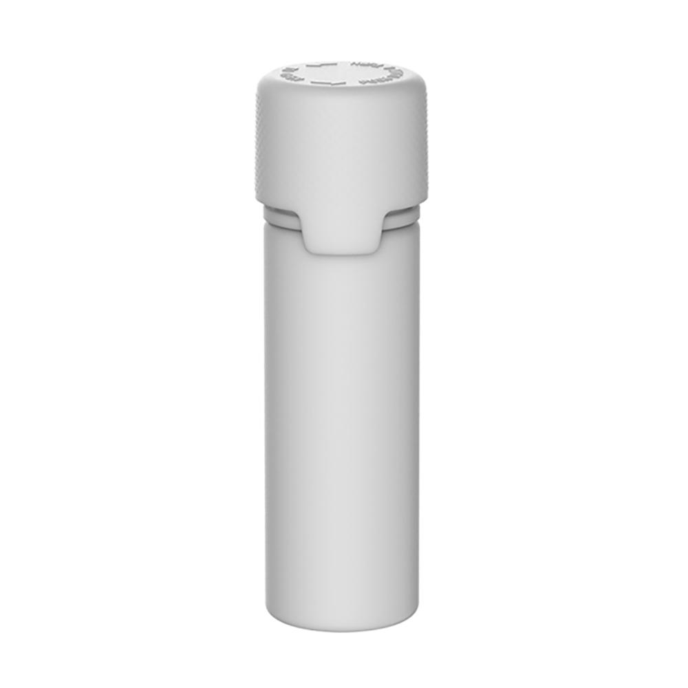 50mL White PET Aviator Bottle with White CR Cap & Seal