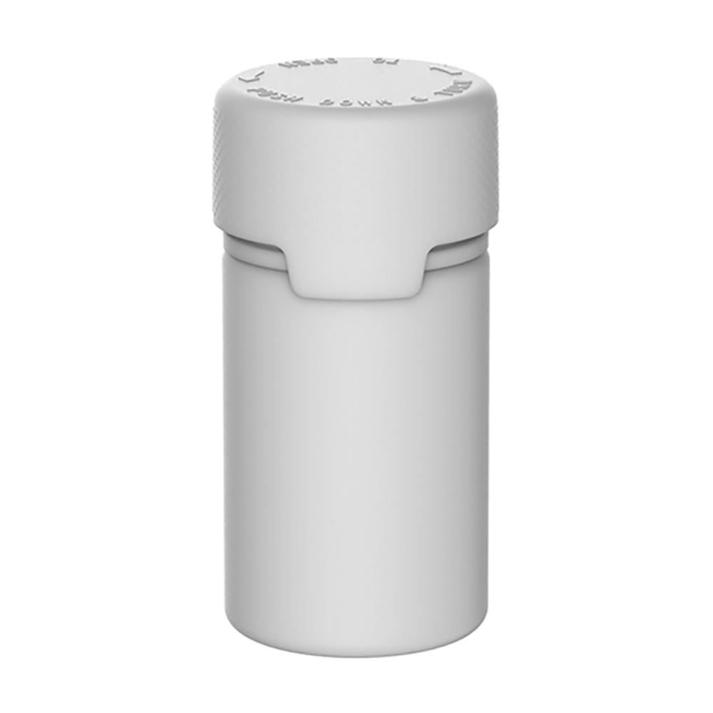 75mL White PET Stubby Aviator Bottle with White CR Cap & Seal