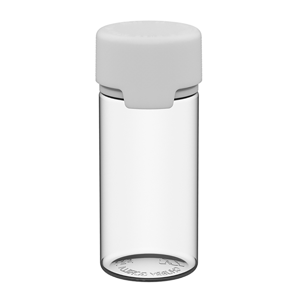100mL Clear PET Aviator Bottle with White CR Cap & Seal