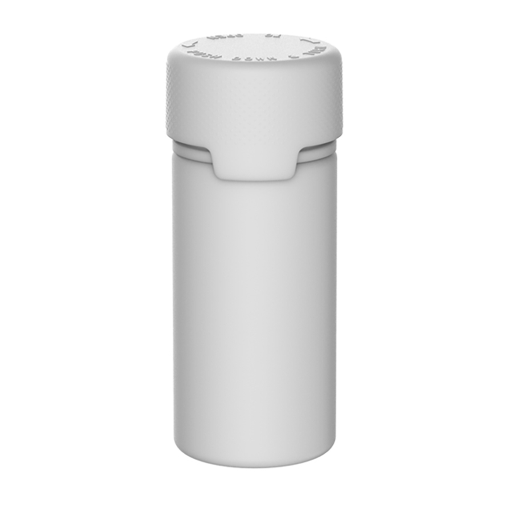 100mL White PET Aviator Bottle with White CR Cap & Seal
