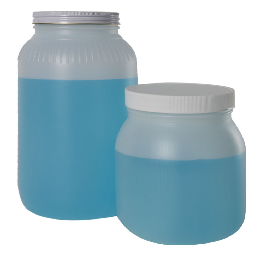 Large Wide Mouth HDPE Jars with Caps