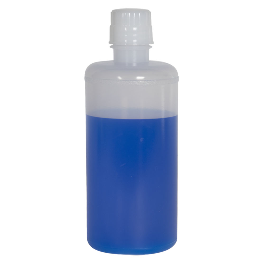 32 oz. LDPE Round Bottle with 38/430 Buttress Cap