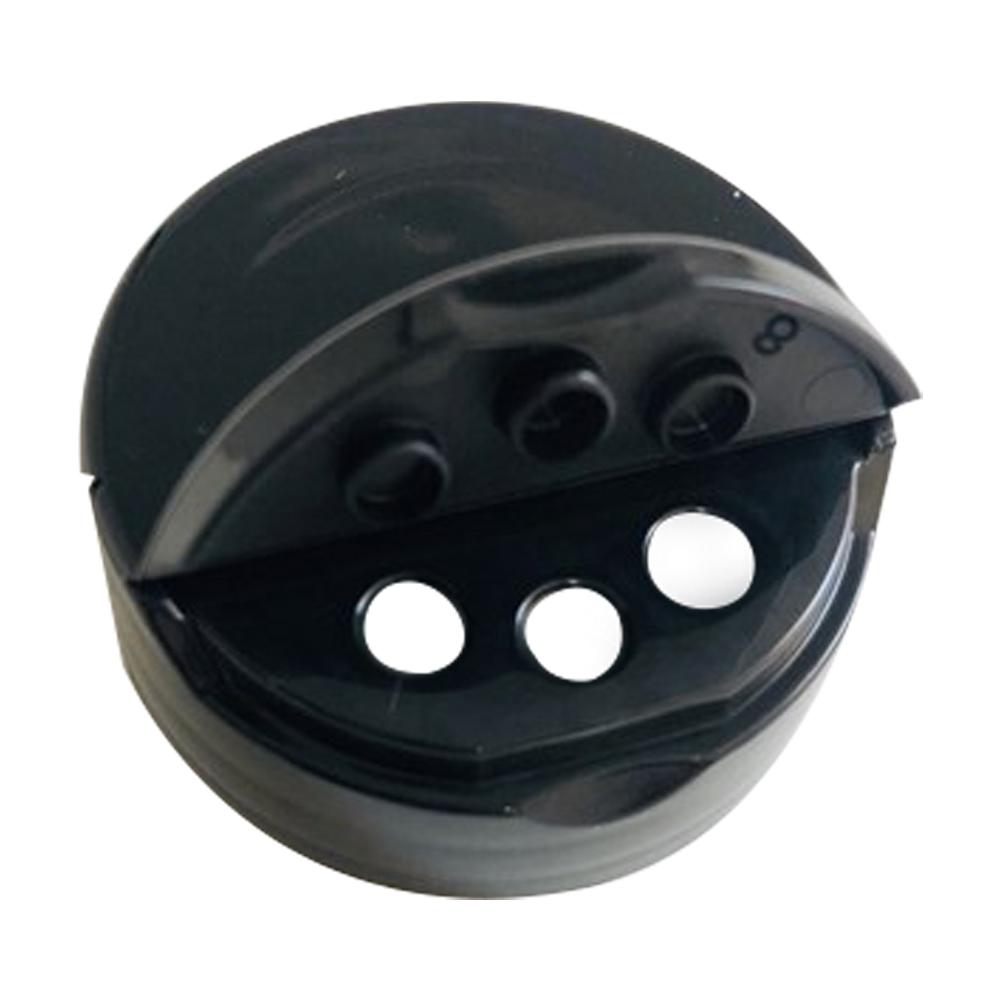 38/400 Black 3 Hole Dual Door Spice Unlined Cap