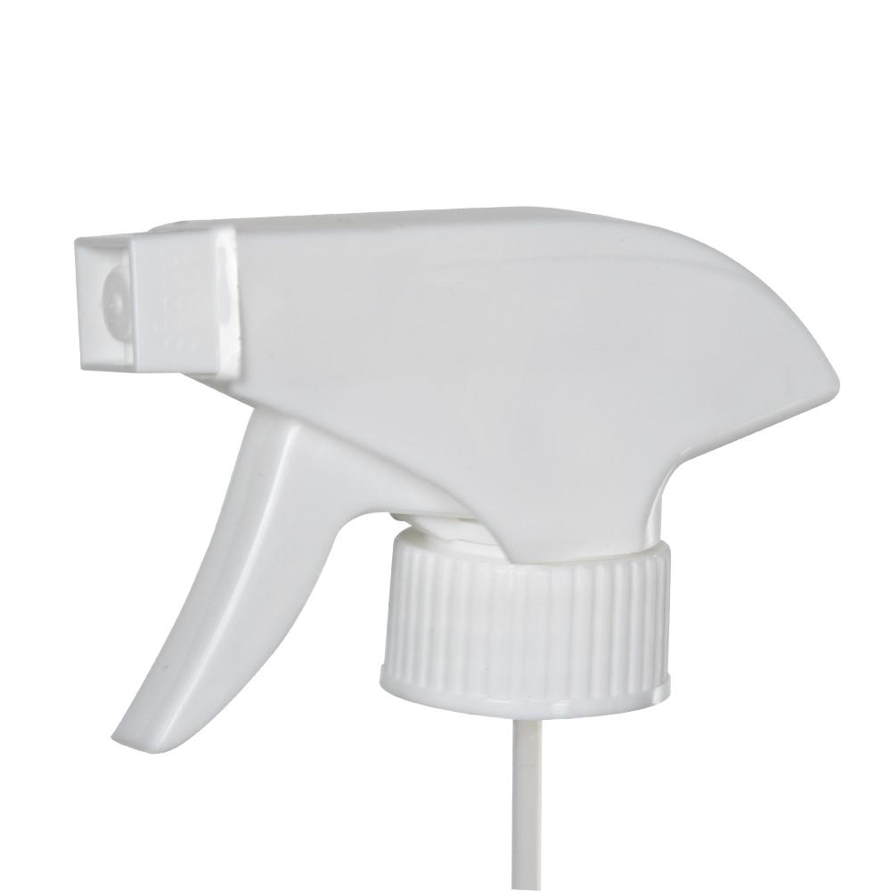 """28/400 White Polypropylene Retail Trigger Sprayer with 10"""" Dip Tube & 0.8mL Output"""