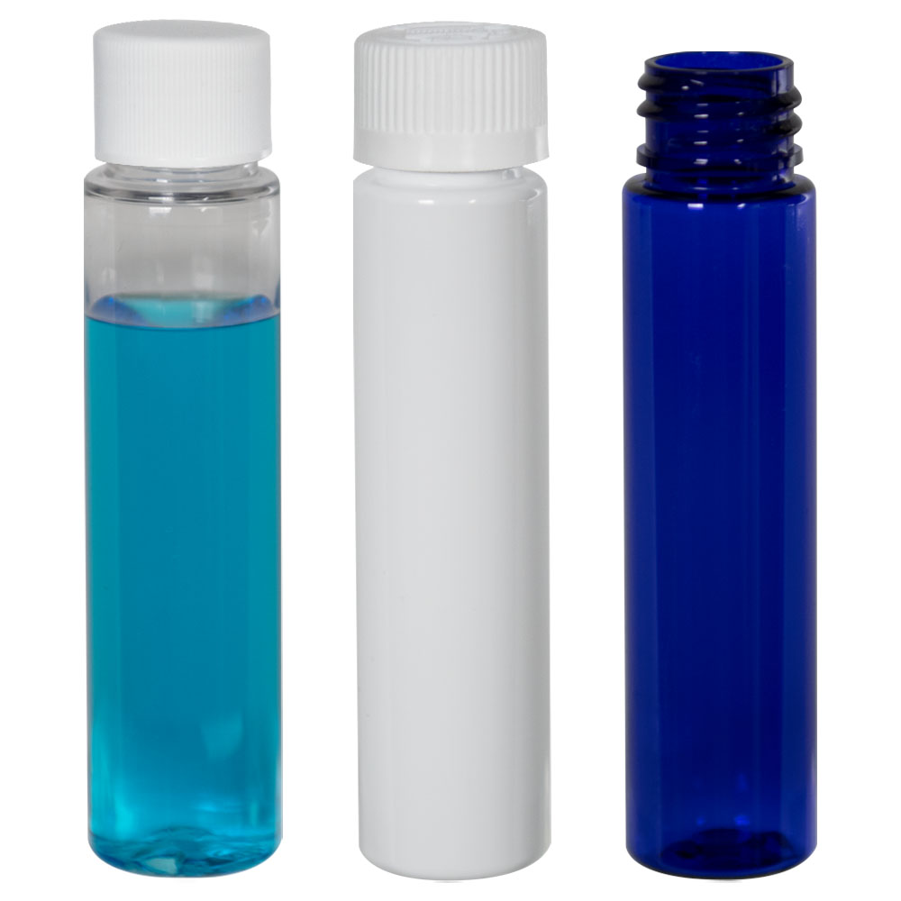 4 oz. Clear Slim PET Cylinder Bottle with 24/410 Plain Cap