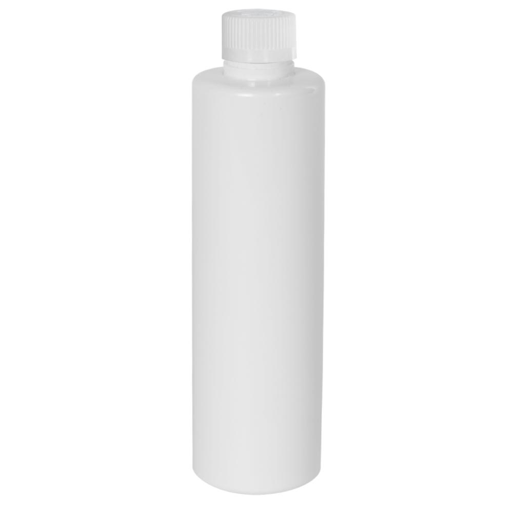 4 oz. White Slim PET Cylinder Bottle with 24/410 CRC Cap