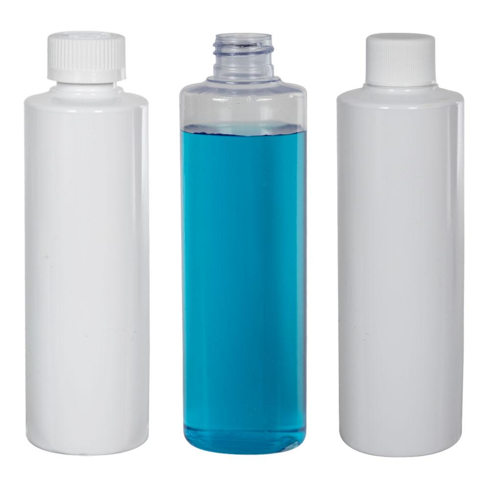 PVC Cylindrical Bottles & Caps
