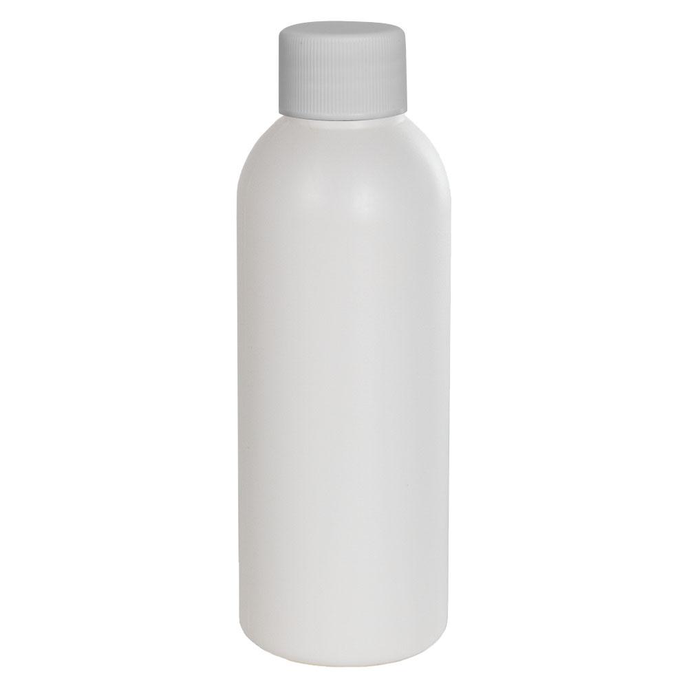 2 oz. HDPE White Cosmo Bottle with Plain 20/410 Cap