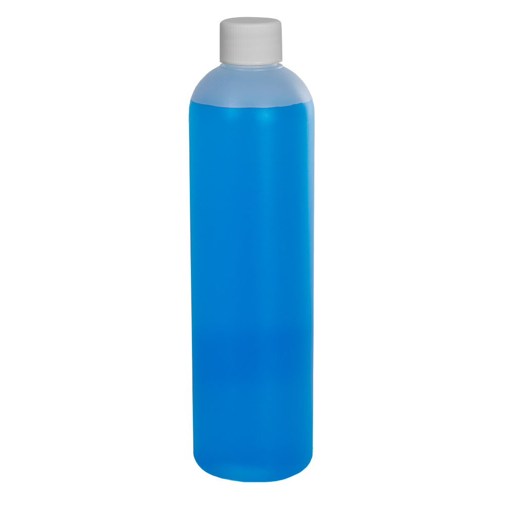 12 oz. HDPE Natural Cosmo Bottle with Plain 24/410 Cap