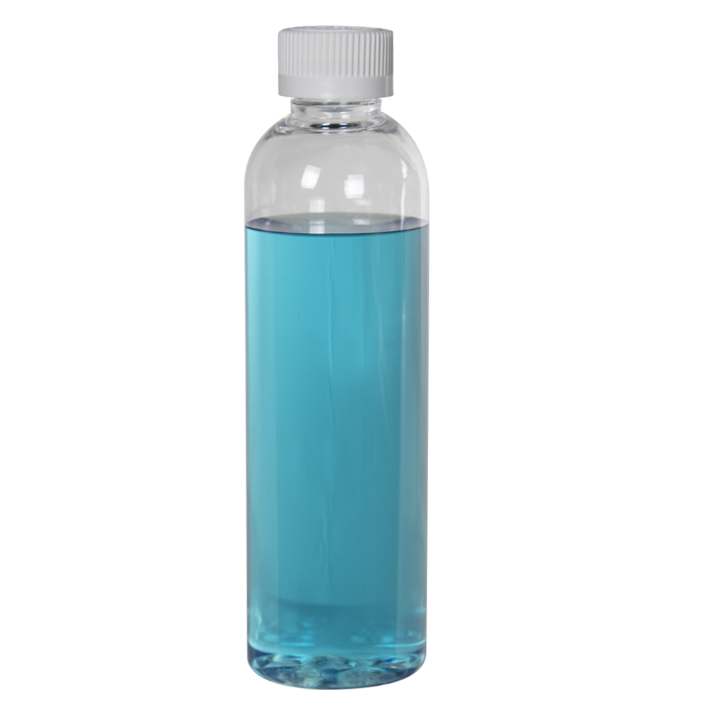 6 oz. Cosmo High Clarity Round Bottle with CRC 24/410 Cap