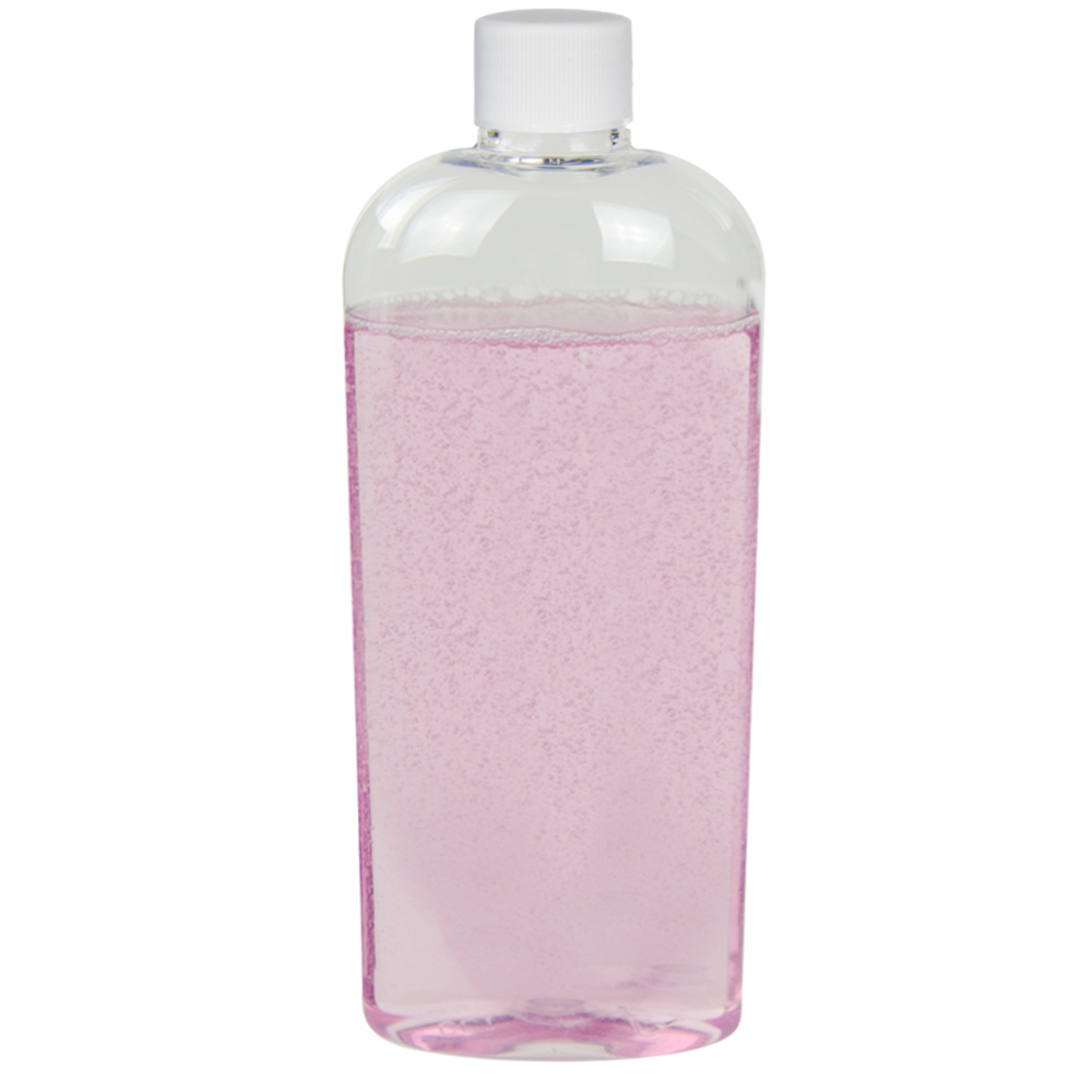 8 oz. Clear PET Cosmo High Clarity Oval Bottle with Plain 24/410 Cap
