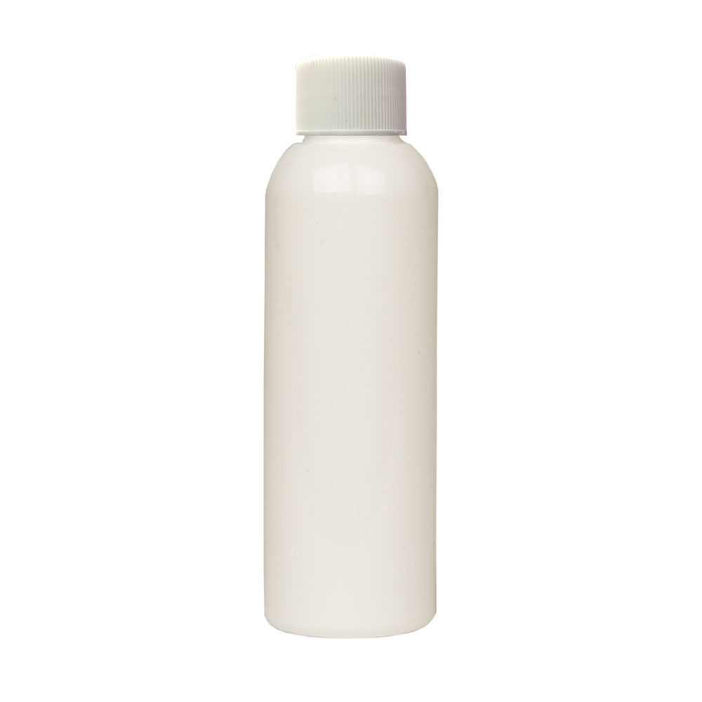 2 oz. White PET Cosmo Round Bottle with Plain 20/410 Cap