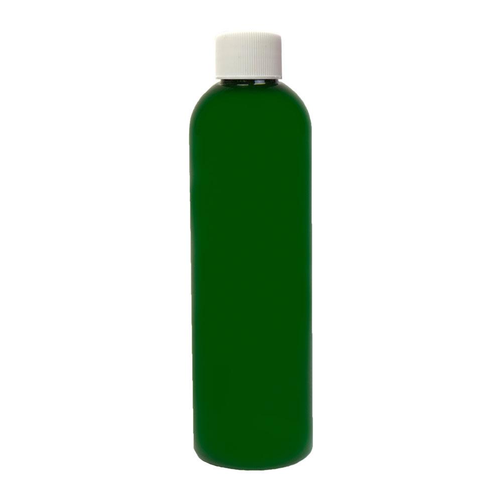 4 oz. Dark Green PET Cosmo Round Bottle with Plain 20/410 Cap