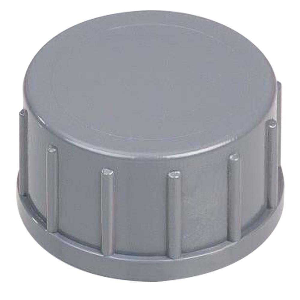 "3/4"" Gray PVC Captive Cap"
