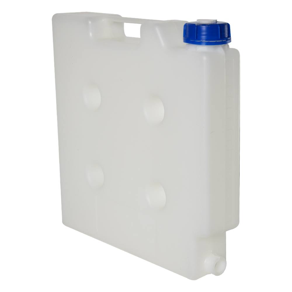 """5 Liter Natural Polypropylene Compact Jerrican with Tamper Evident Cap & 3/4"""" Threaded Connector"""