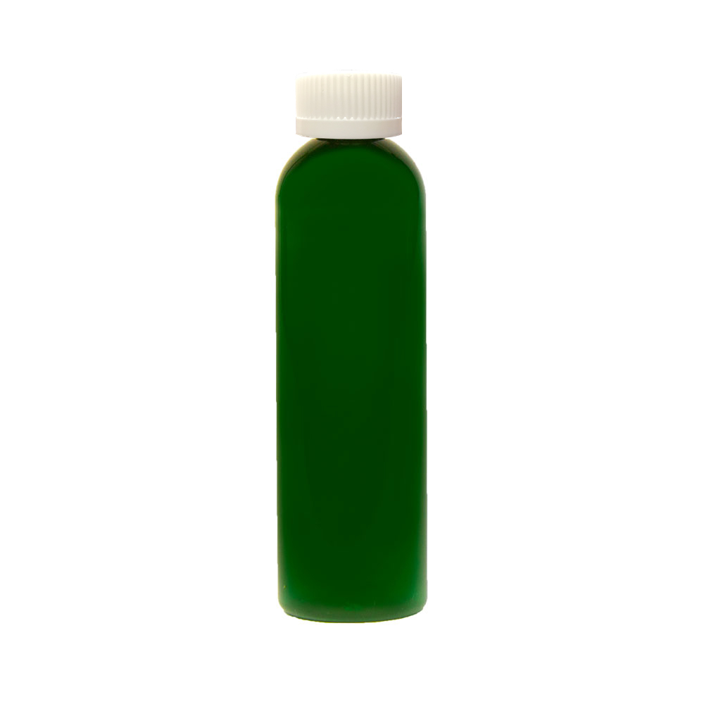 6 oz. Dark Green PET Cosmo Round Bottle with CRC 24/410 Cap