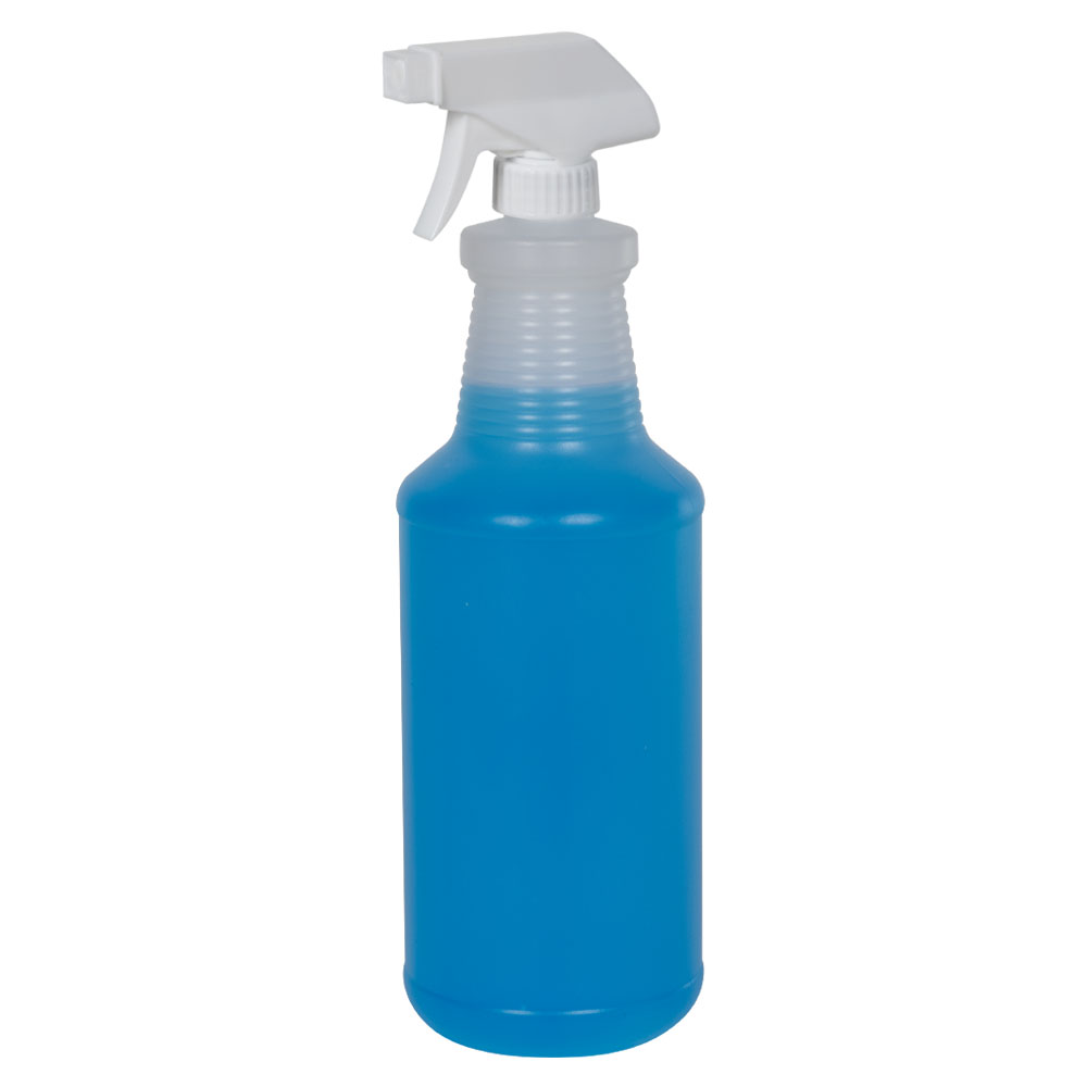 32 oz. Natural HDPE Carafe Bottle with 28/400 Sprayer