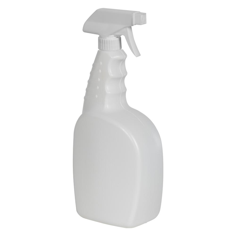 32 oz. White Trigger Spray Bottle with 28/400 Sprayer