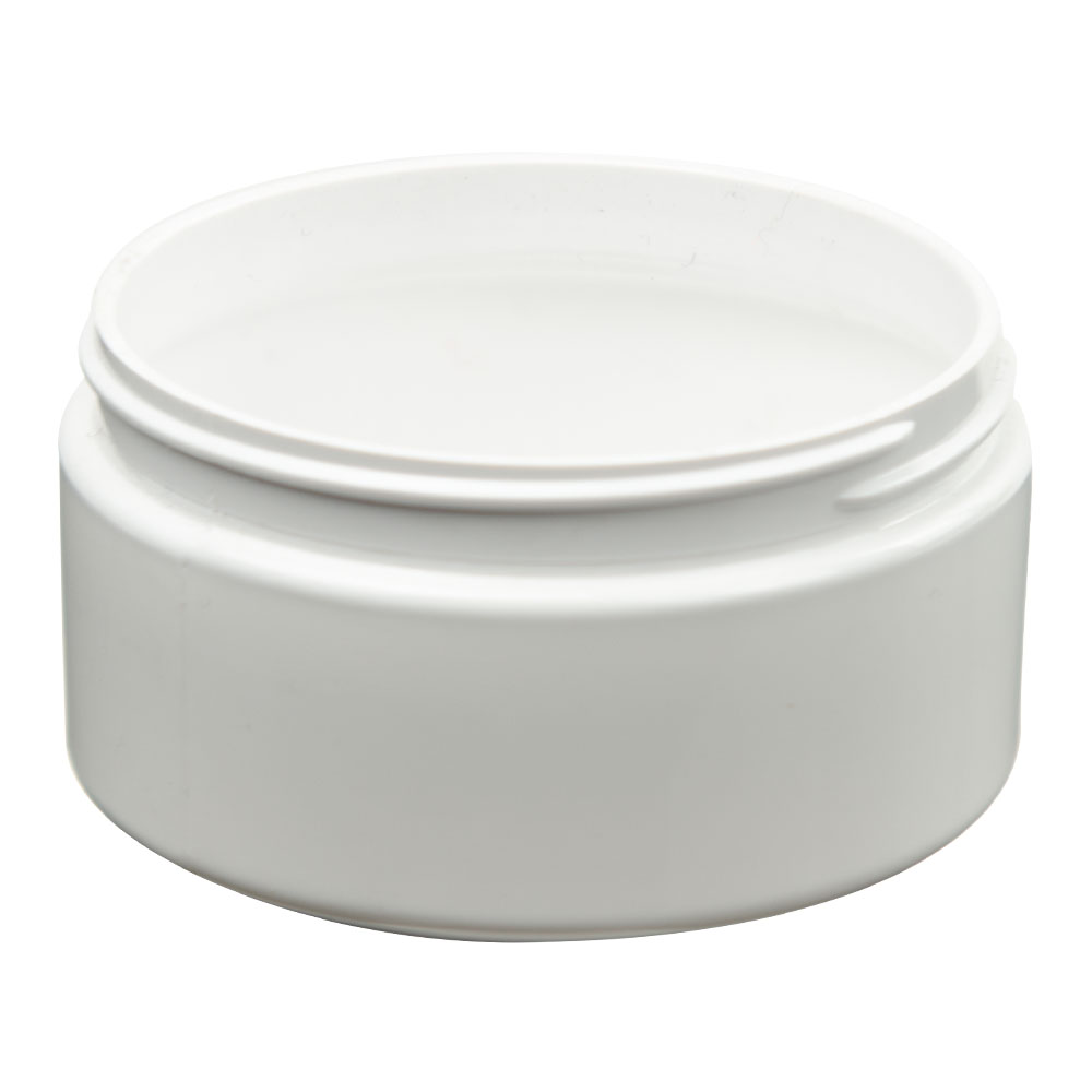 4 oz. White PET Straight Sided Jar with 58/400 Neck (Cap Sold Separately)