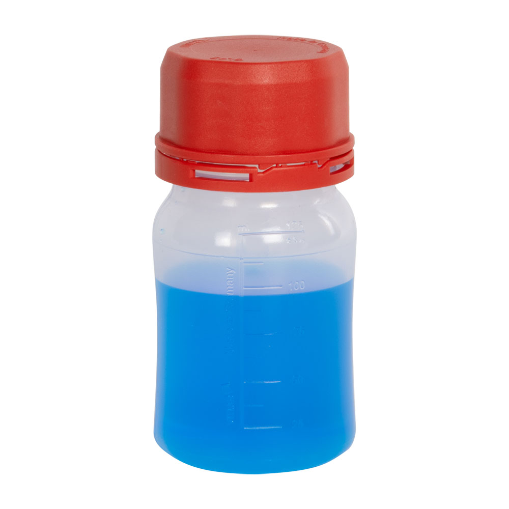 125mL Polypropylene VITgrip™ Lab Bottle with Tamper Evident Cap