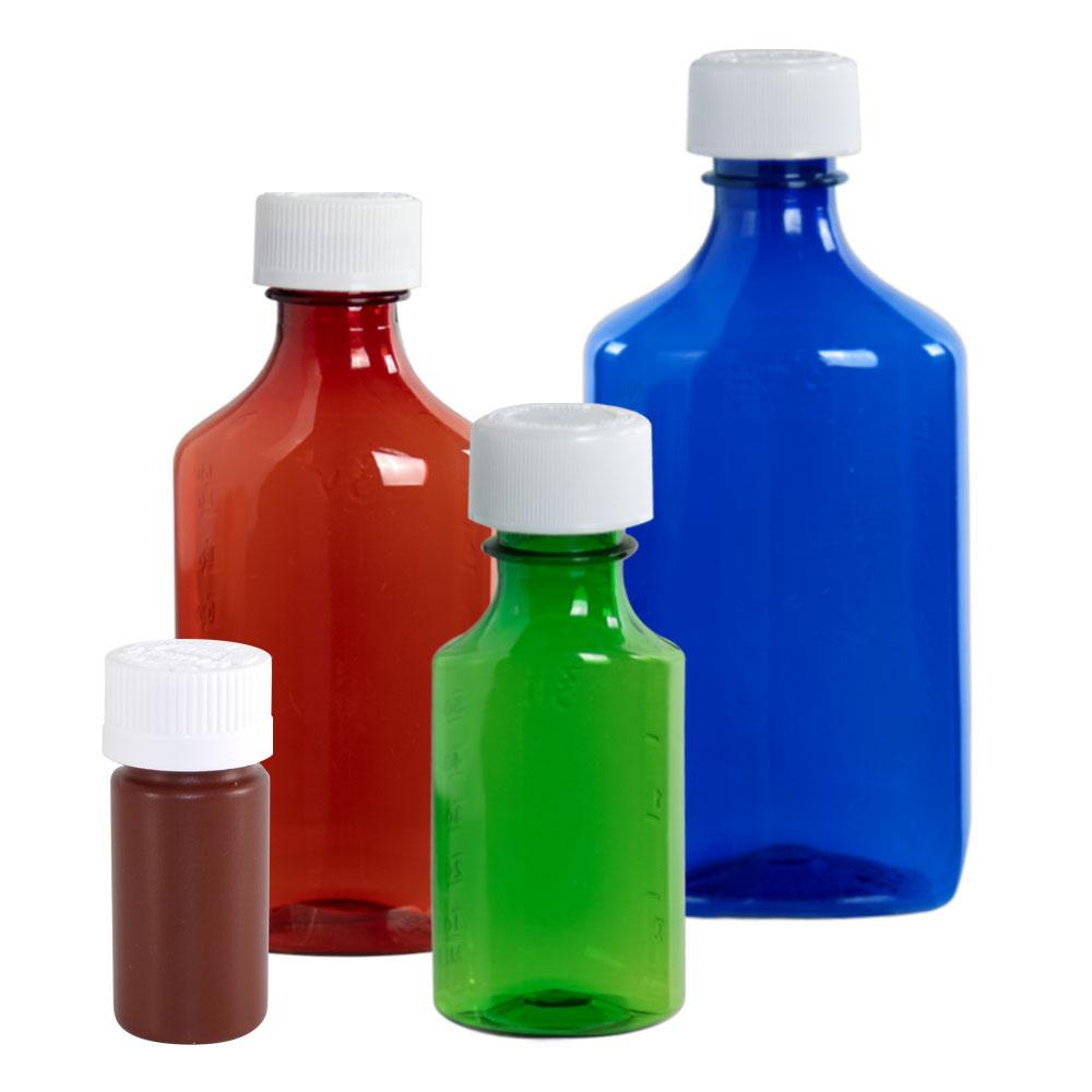 Liquid Bottles with CR Caps & Dosing Syringes