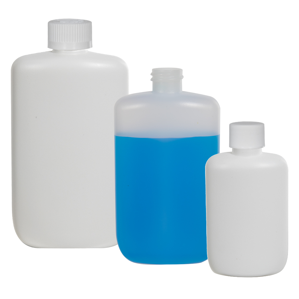 12 oz. Natural HDPE Oval Bottle with 24/410 Neck (Cap Sold Separately)