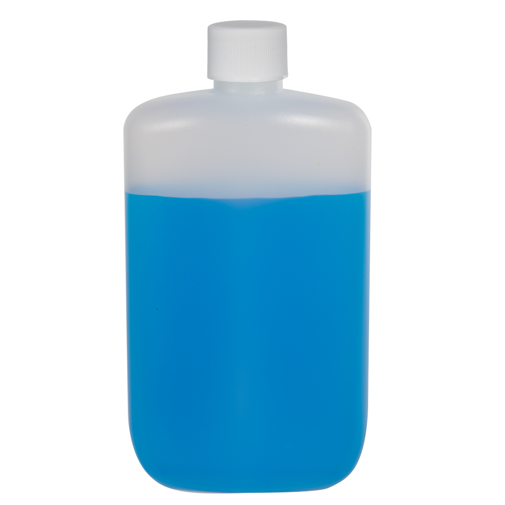 4 oz. Natural HDPE Oval Bottle with 24/410 Plain Cap with F217 Liner
