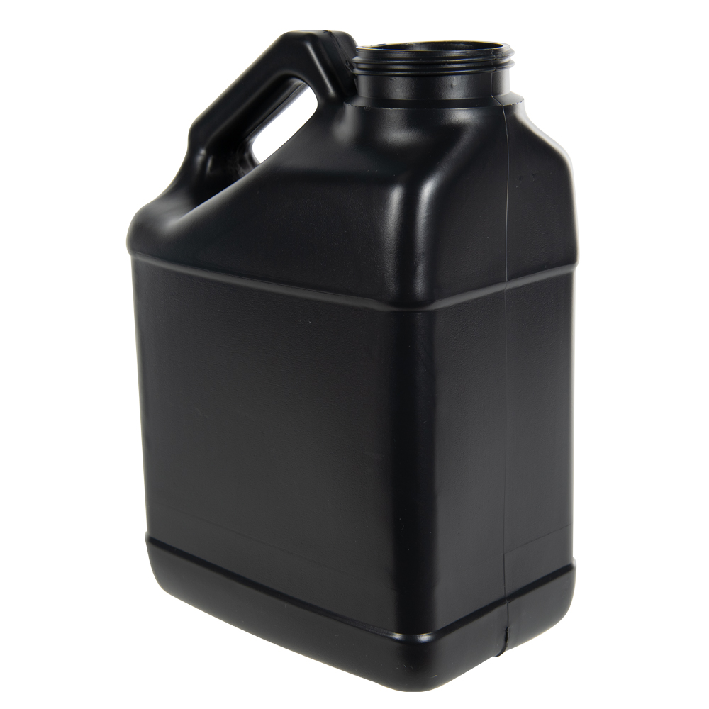 128 oz. Black F-Style Jug with 63mm Neck (Cap Sold Separately)
