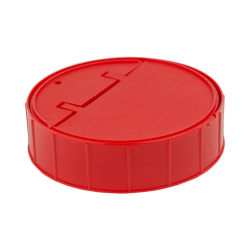 120mm Threaded Cap with Spring for Towel Wipe Canister- Red