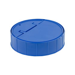120mm Threaded Cap with Spring for Towel Wipe Canister- Blue