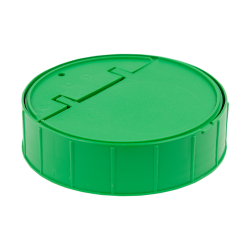 120mm Threaded Cap with Spring for Towel Wipe Canister- Green