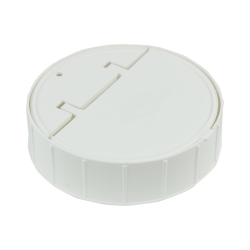 120mm Threaded Cap with Spring for Towel Wipe Canister- White