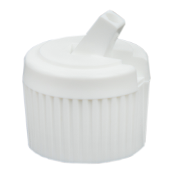 20/410 White Flip-Top Cap