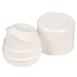 White Pearl Airless Dispenser Pump & Overcap