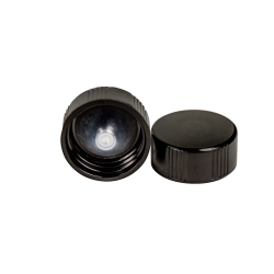 24/400 Black Phenolic Taperseal Cap with LDPE Liner