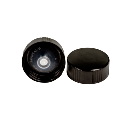 28/400 Black Phenolic Taperseal Cap with LDPE Liner