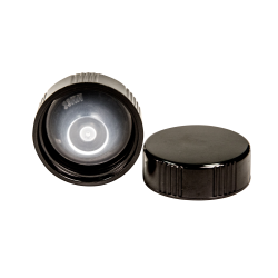 33/400 Black Phenolic Taperseal Cap with LDPE Liner