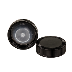 38/400 Black Phenolic Taperseal Cap with LDPE Liner